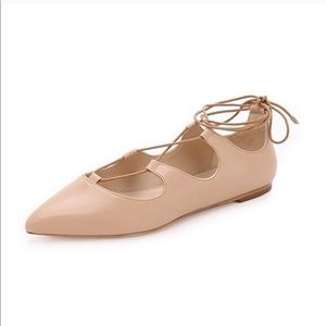 LOEFFLER RANDALL Ambra Lace Up Ballet Flats Shoes